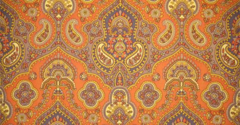 Orange Paisley Wallpapers