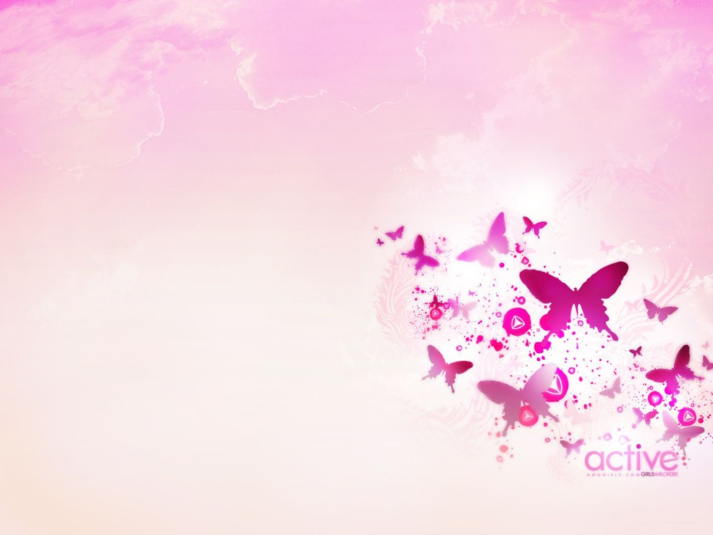 Pink And White Butterfly Wallpapers